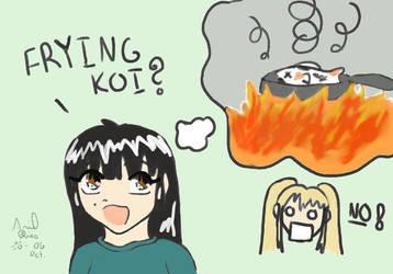 Frying Koi? by flynfreakoarchives