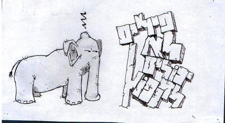 Elephants can not jump! by mysrerio