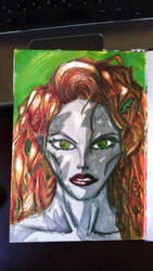 Poison Ivy marker sketch thingy? by mysrerio