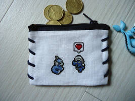 Cross stitch Dratini x Bagon purse by Miloceane