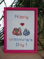 Cross stitch Nidoran's Valentine's Day by Miloceane