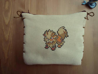 Cross stitch Arcanine 3DS XL protection case by Miloceane