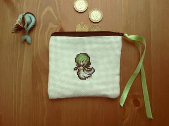 Cross stitch Gardevoir pouch by Miloceane