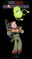 Louis Tully and Slimer by mikeysammiches