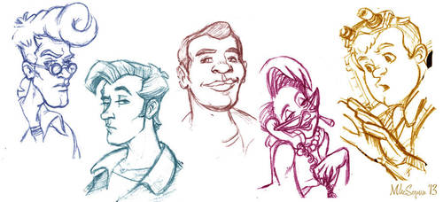 The Real Ghostbusters sketches by mikeysammiches