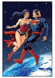 Superman Wonderwoman Cor Net by Guelin
