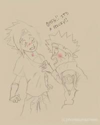 Sasuke's Hicky Hiding by MoreSunScreen