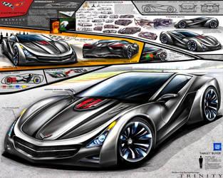 Corvette Trinity Supercar Design Concept by toyonda