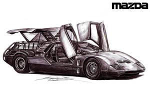 Mazda RX500 Exotic Supercar Prototype by toyonda