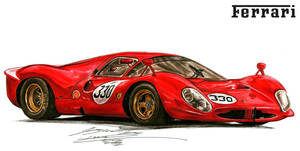 Ferrari 412P Le Mans Exotic Race Car by toyonda