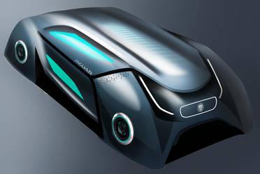 Autonomous Jaguar Retro Geometry Design Concept by toyonda