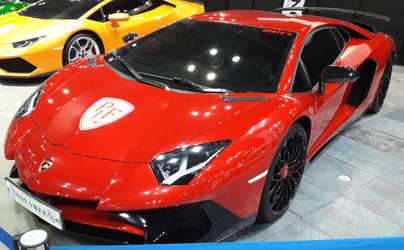 Red Aventador by toyonda