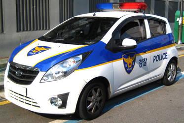 Chevy Spark Korean Police Service Patrol Unit by toyonda