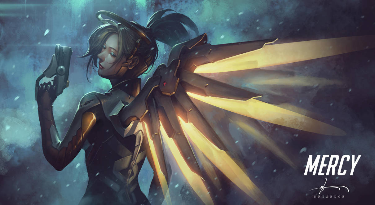Mercy - Overwatch Fanart by Krisedge