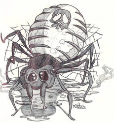 Inktober2018 Day 1- POISONOUS Spider by Matheus019