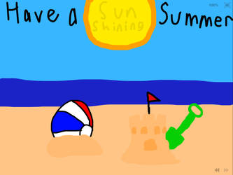 Summer Greeting Card by Fuzzinator23