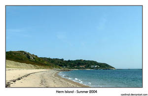 Beach on Herm Island by cardinal