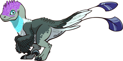 crested blue [ADOPTABLE] by alienfirst