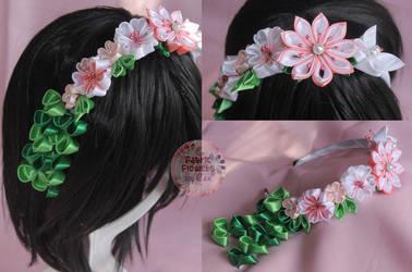 Kanzashi Headband by Cee by yourstrulycee