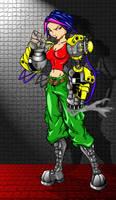 robot girl by bunleungart