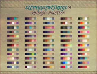 ElephantWendigo's Vintage Palettes - PS Swatches by DocWendigo