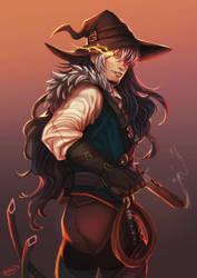 Commission - Grim 'the Hunter' by DocWendigo