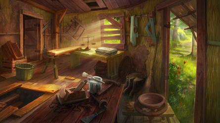 Abandoned hut by novtilus