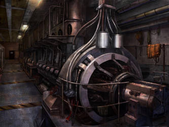 The engine room by novtilus