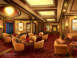 First Class Lounge of Titanic by novtilus