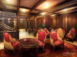 Reception Room of Titanic by novtilus