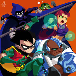 Teen Titans by chikinrise