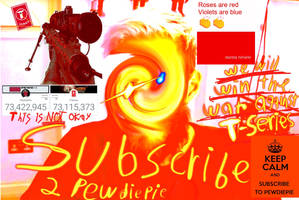 Subscribe 2 pewdiepie by TrueArtPenguin