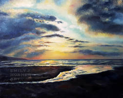 Evening Beach by emilyjhorner