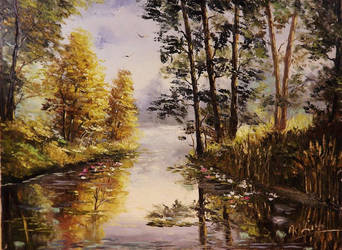 A Peaceful Pond 2 by Kasia1989