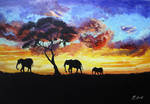 Africa - sunset by Kasia1989