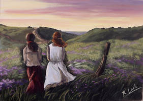 Friendship Anne of Green Gables painting by Kasia1989