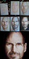Steve Jobs Progression by trixdraws