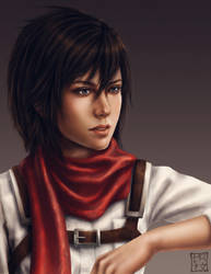 Mikasa Ackerman by trixdraws