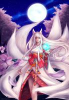 Kitsune Ahri by vixyl