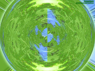 Green Cosmic Sphere by saiy2k