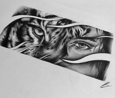 Eye Of The Tiger Tattoo Design By Ladeki On Deviantart