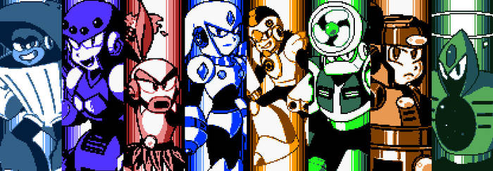 Mega Man Eternal II - All Robot Master Intros by DiscreteComputation