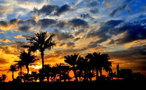 UAE Beach Sunset 5 by Hamrani