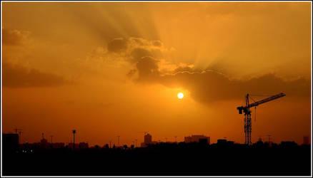 Ajman sunset silhouette by Hamrani