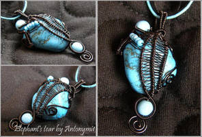 Elephant's Tear pendant by Antonymi1