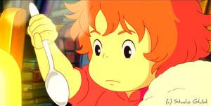 Tea - Ponyo Wallpaper by sirdaftodill