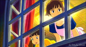 Window Light - Ponyo Wallpaper by sirdaftodill