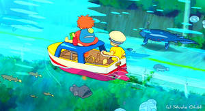 Adventure - Ponyo Wallpaper by sirdaftodill