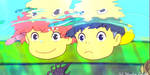 Underwater Glee - Ponyo Wallpaper by sirdaftodill