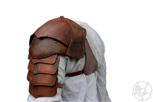 Shoulder armor + bracer (brown)1 by bellatoreslucis